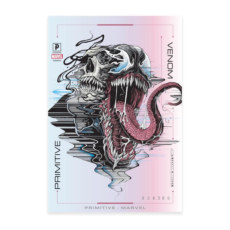 Primitive x Marvel x Paul Jackson Venom Foil Sticker Hologram