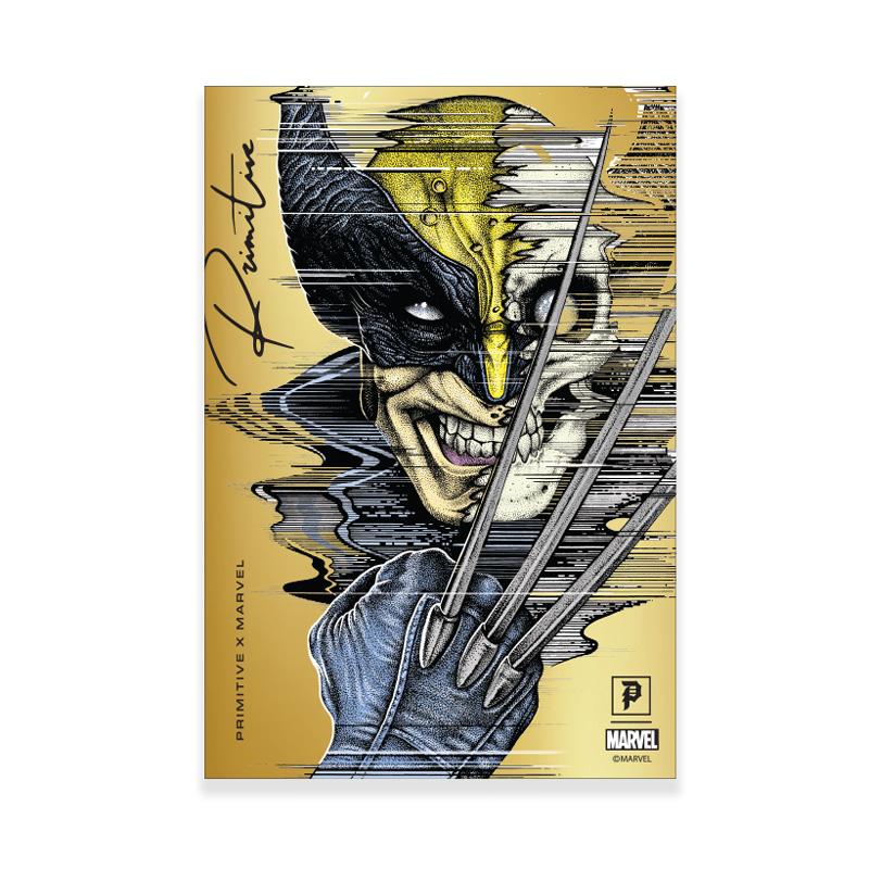 Primitive x Marvel x Paul Jackson Wolverine Foil Sticker Gold