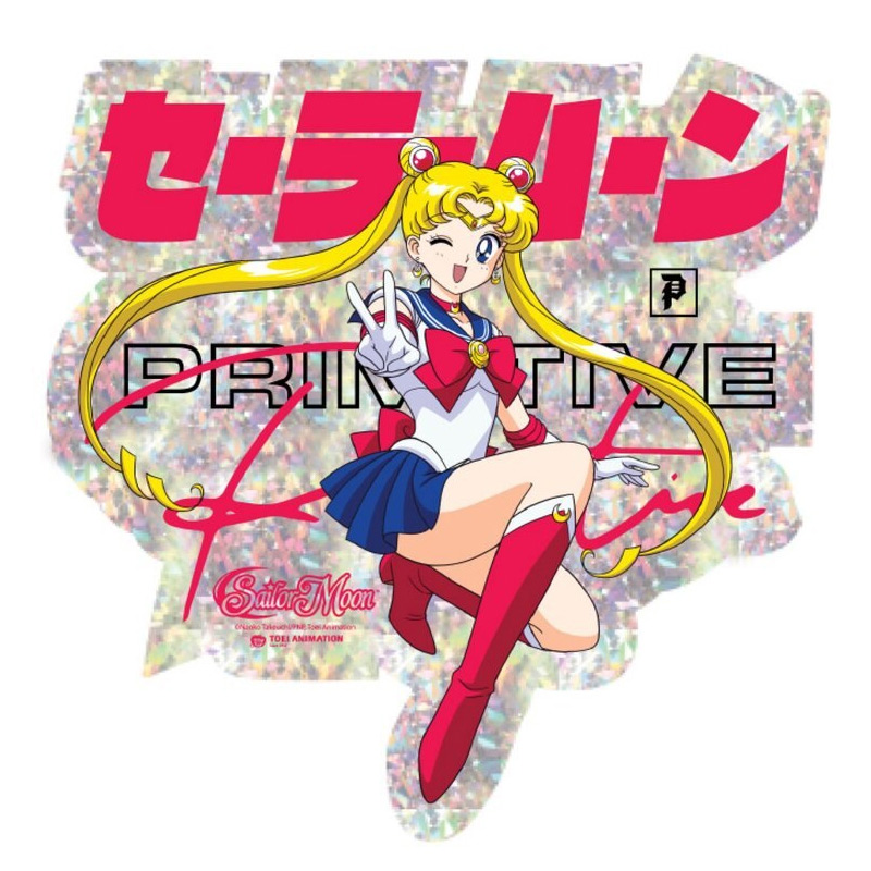 Primitive x Sailor Moon Moon Sticker Multi