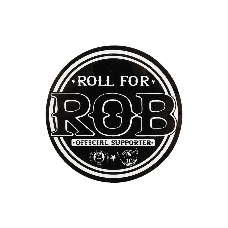 Real Roll For Rob Sticker Black S