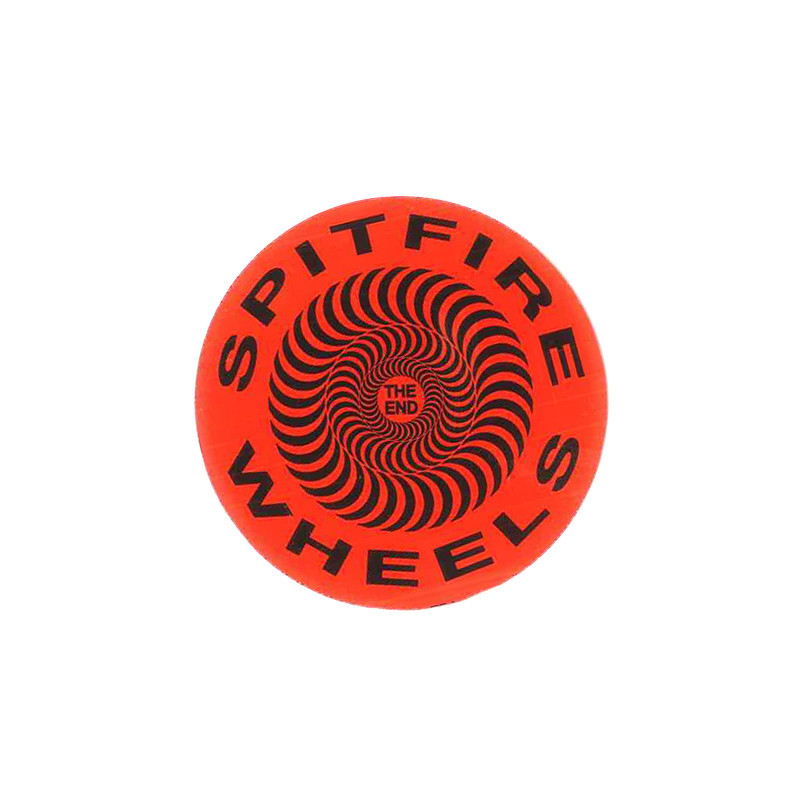 Spitfire Classic Sticker Black/Red S