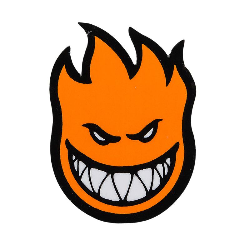 Spitfire Fireball Sticker Orange L