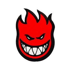 Spitfire Fireball Sticker Red M
