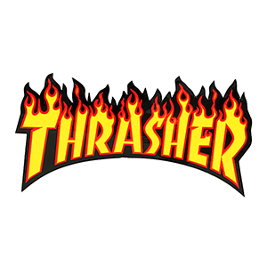 Thrasher Flame Sticker Large Yellow/Red/Black