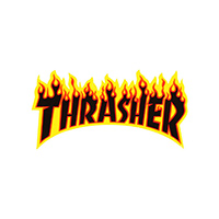 Thrasher Flame Sticker Medium Yellow/Black/Orange