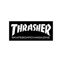 Thrasher Skate Mag Sticker Medium Black