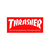 Thrasher Skate Mag Sticker Medium Red