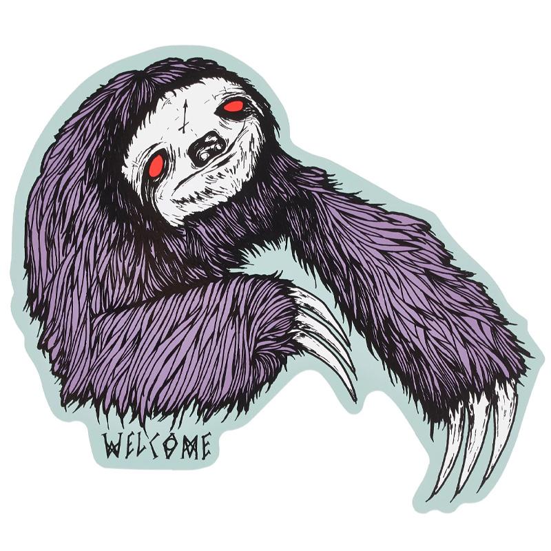 Welcome Sloth Die-Cut Sticker Purple/Sage
