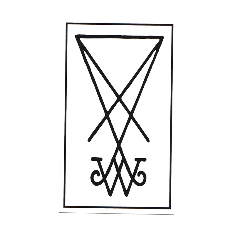Welcome Symbol Sticker Whiteblack 45 I Skatestore