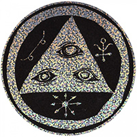 Welcome Talisman Circle 5 Sticker Black/Holographic