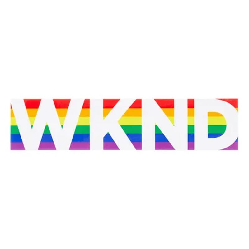 WKND Banner Rainbow Sticker