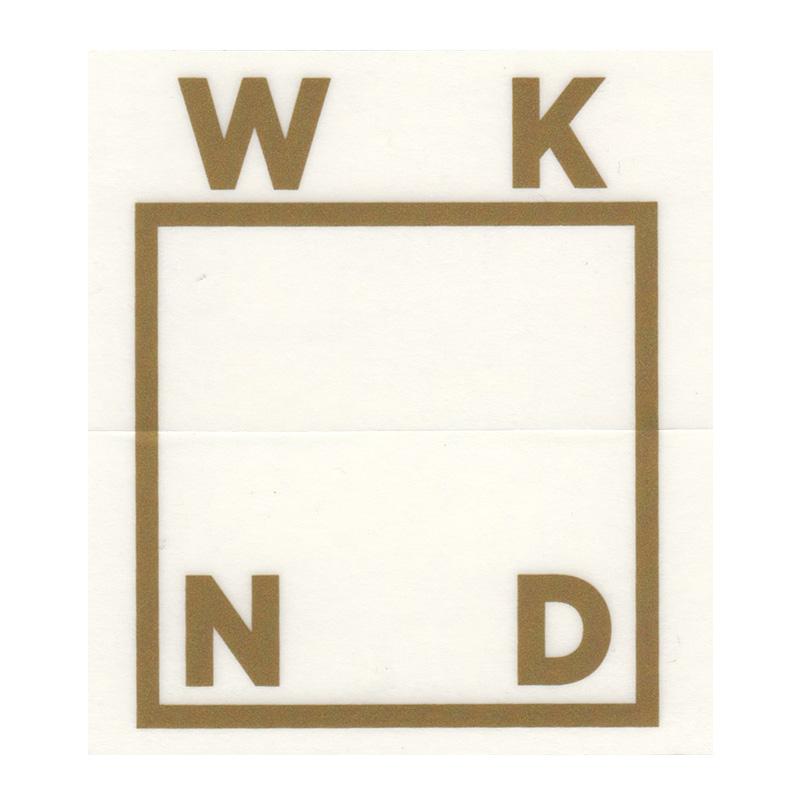 WKND Logo Sticker Bronze