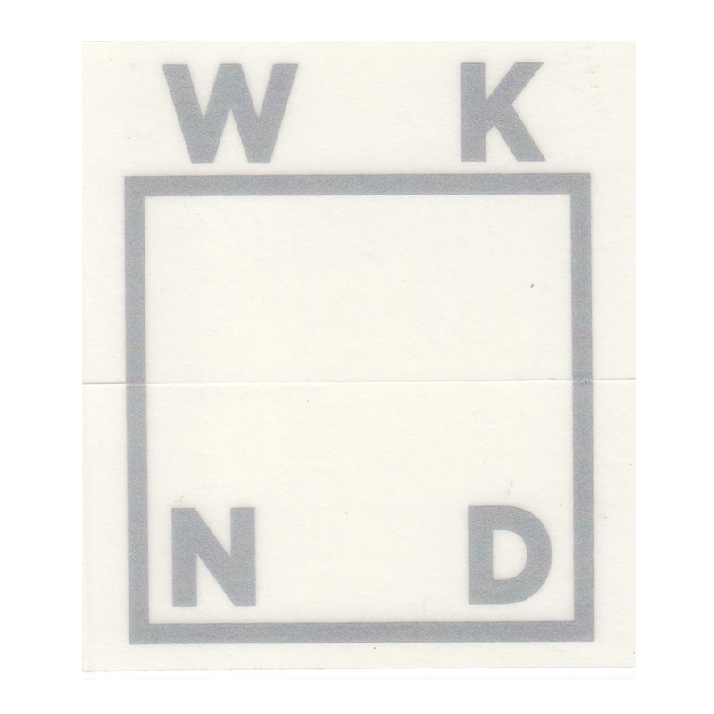 WKND Logo Sticker Silver