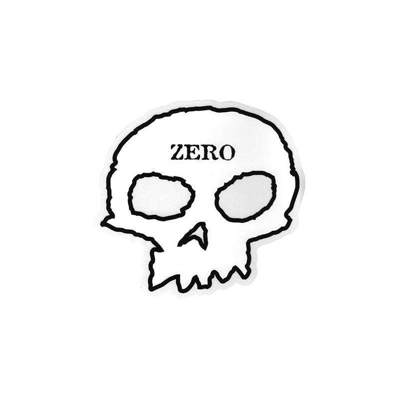 Zero Skull Sticker White