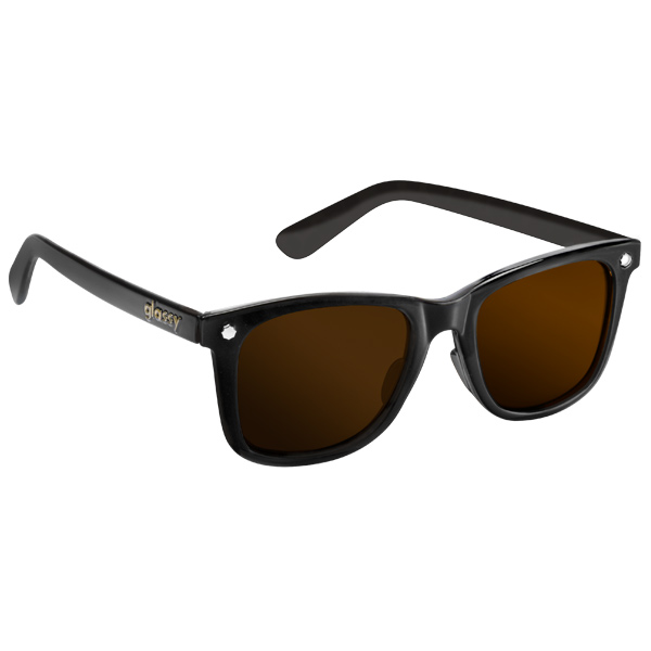 Glassy Sunhaters Mikemo Sunglasses Black Brown Lens