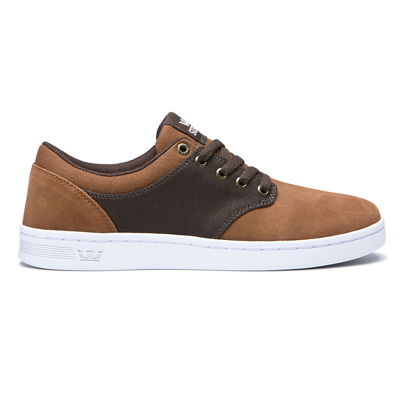 Supra Chino Court Brown/Demitasse/White