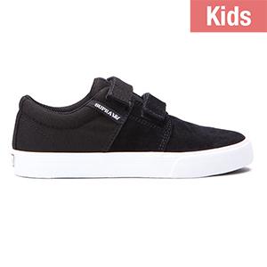 Supra Kids Stacks II Velcro Black/White
