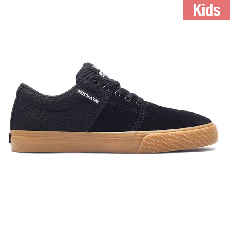 Supra Kids Stacks Vulc II Black Gum