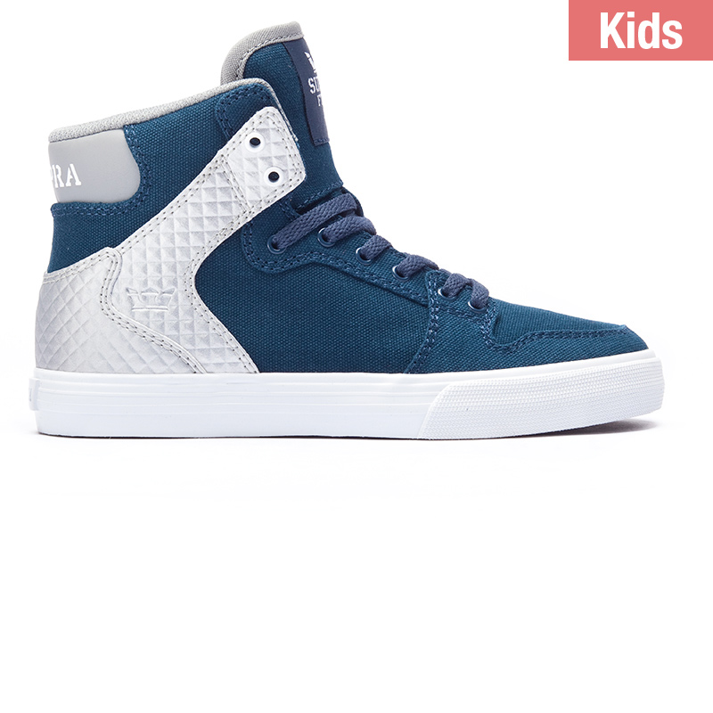 Supra Kids Vaider Midnight Navy Silver White