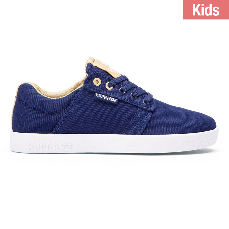 Supra Kids Westway Navy/Hemp/White