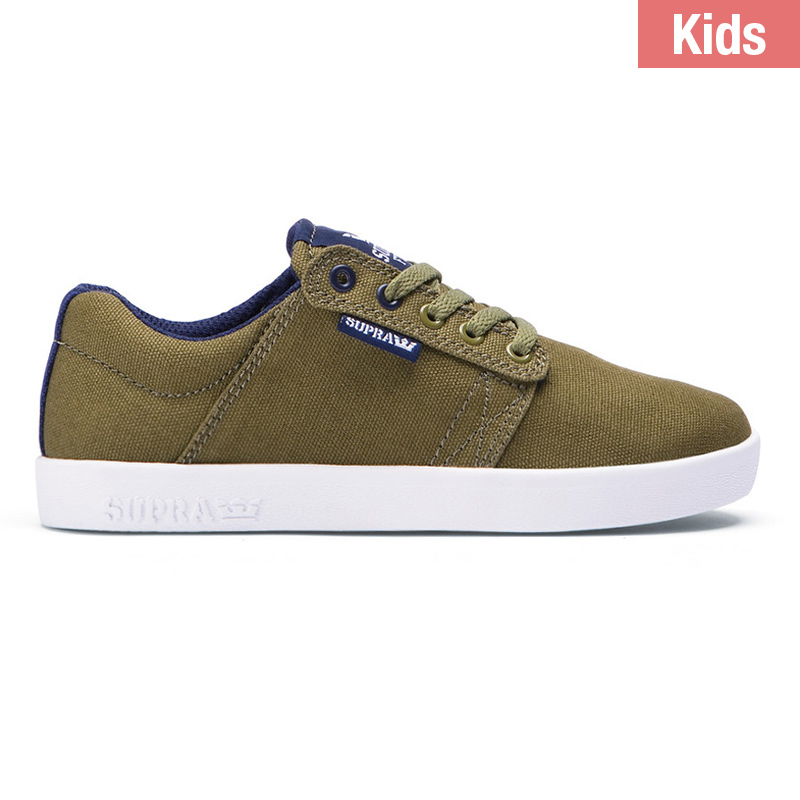 Supra Kids Westway Olive Branch/Navy/White
