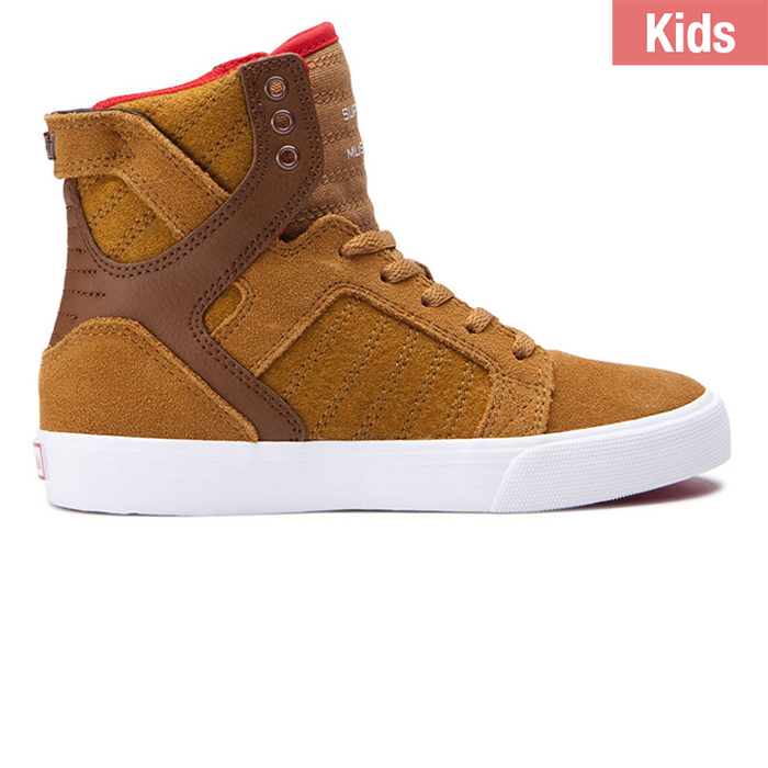 Supra Kids Skytop Tan/White