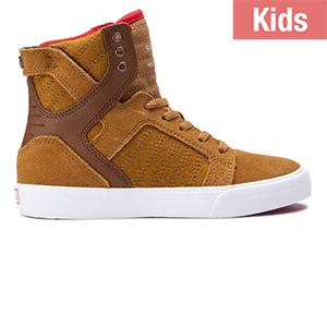 Supra Kids Skytop Tan/White