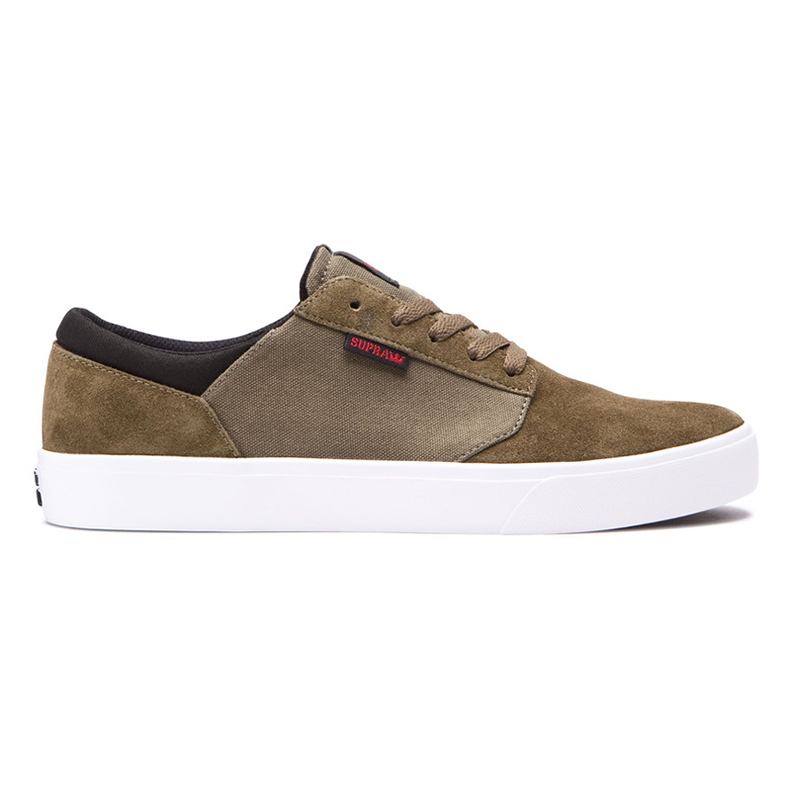 Supra Yorek Low Olive/White