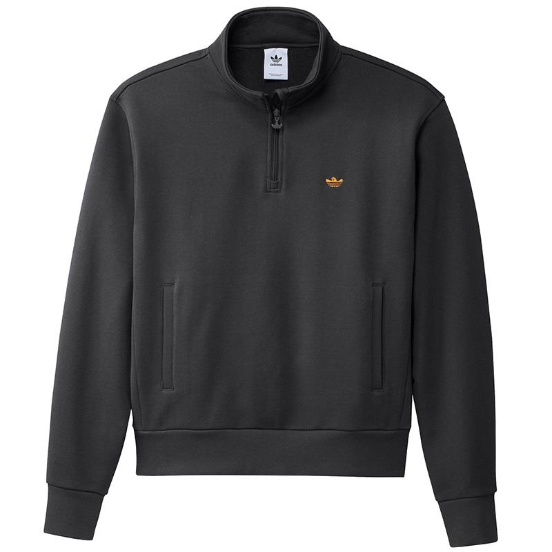 adidas H Shmoo 1/4 Zip Sweater Carbon/Focora