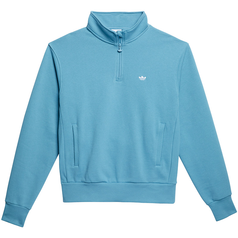 adidas H Shmoo 1/4 Zip Sweater Hazblu/White