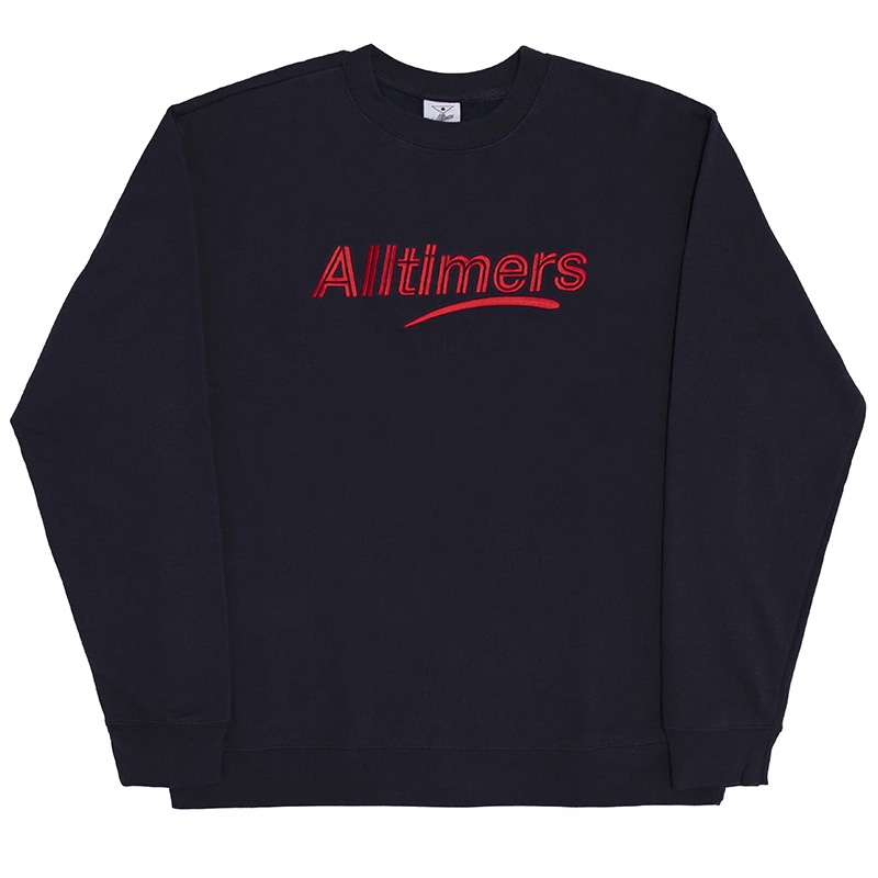 Alltimers Embroidered Estate Crewneck Sweater Navy
