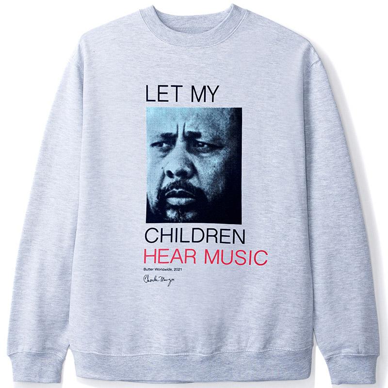 Butter Goods Charles Mingus Let My Children Hear Music Crewneck Sweater Heather Grey