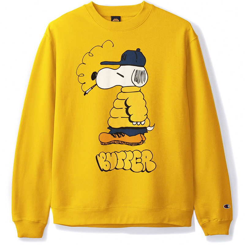 Butter Goods Lo Goose Champion Crewneck Sweater Gold