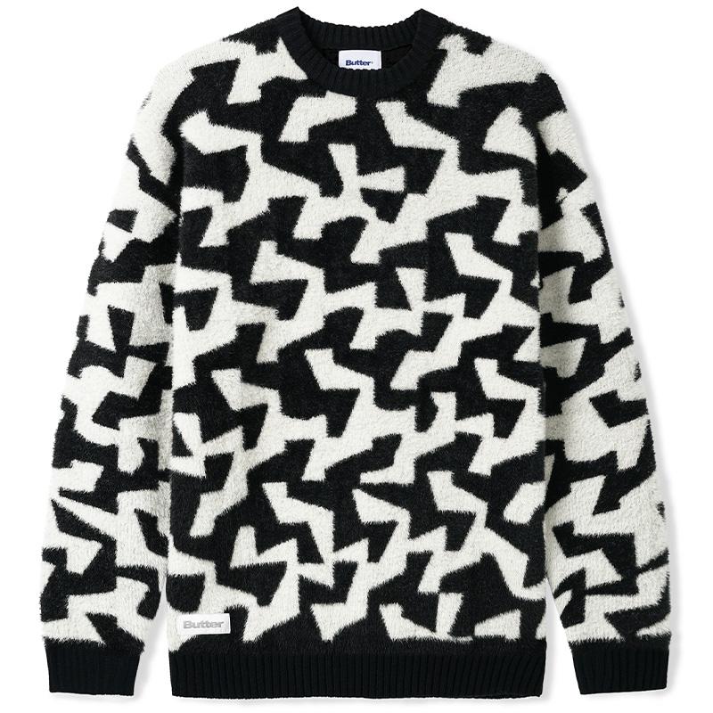 Butter Goods Mohair Knit Sweater Black/White