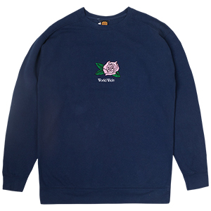 Butter Goods Rosa Pigment Dye Crewneck Sweater Navy