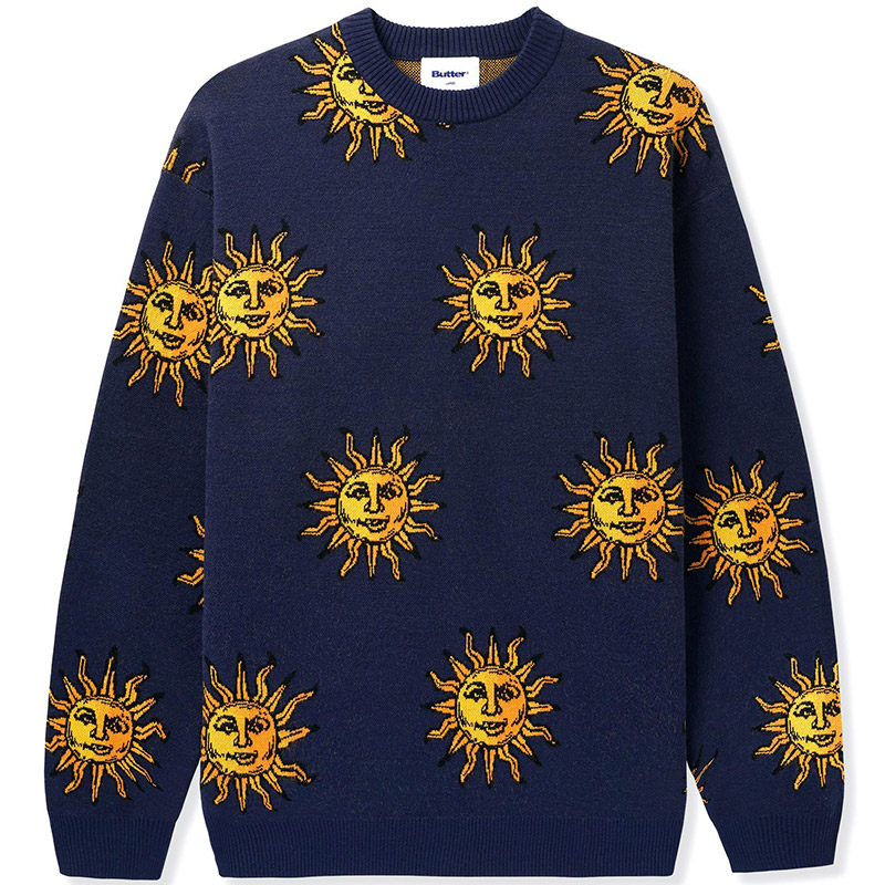 Butter Goods Sun Knit Sweater Navy