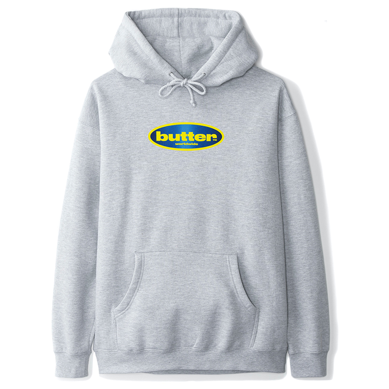 Butter Goods Surf Logo Sweater Heather Grey