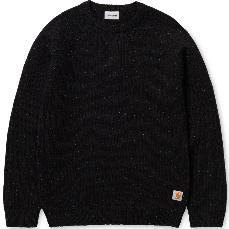 Carhartt WIP Anglistic Sweater Black Heather