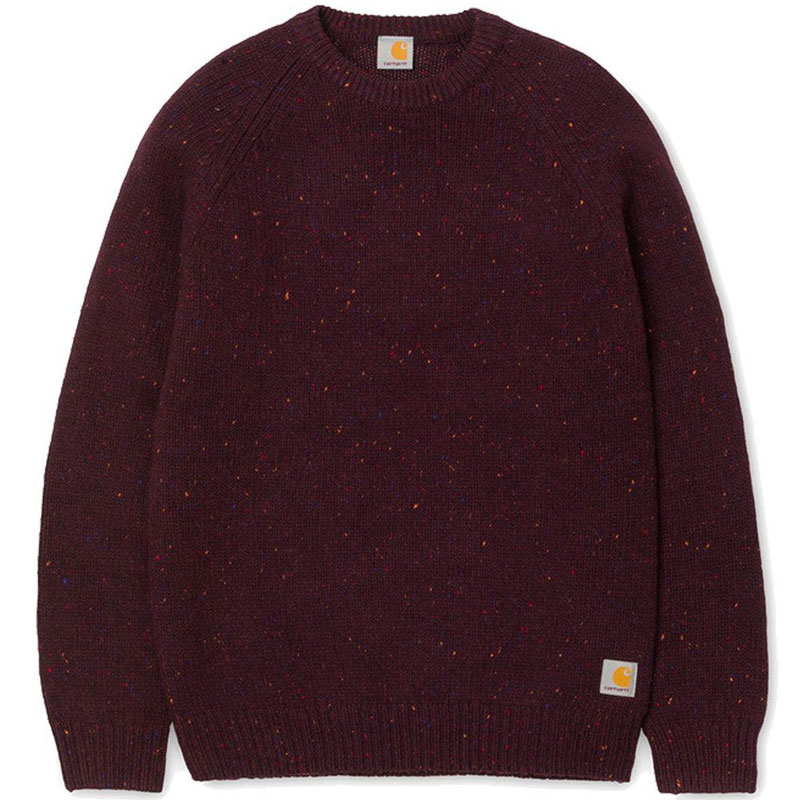 Carhartt WIP Anglistic Sweater Merlot Heather