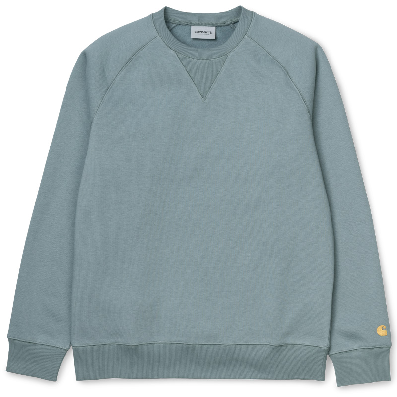 Carhartt WIP Chase Crewneck Sweater Cloudy/Gold