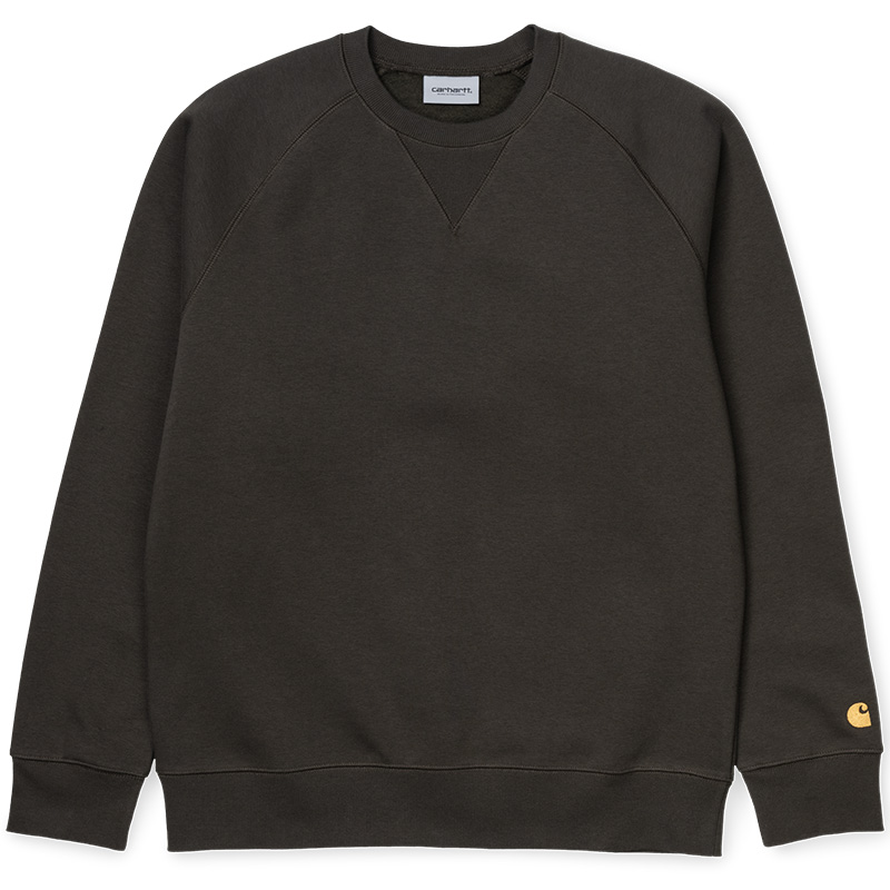 Carhartt Chase Crewneck Sweater Cypress/Gold
