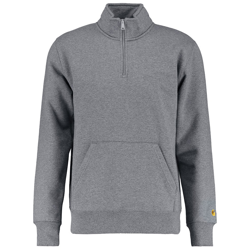 Carhartt Chase Neck Zip Sweater Dark Grey Heather/Gold
