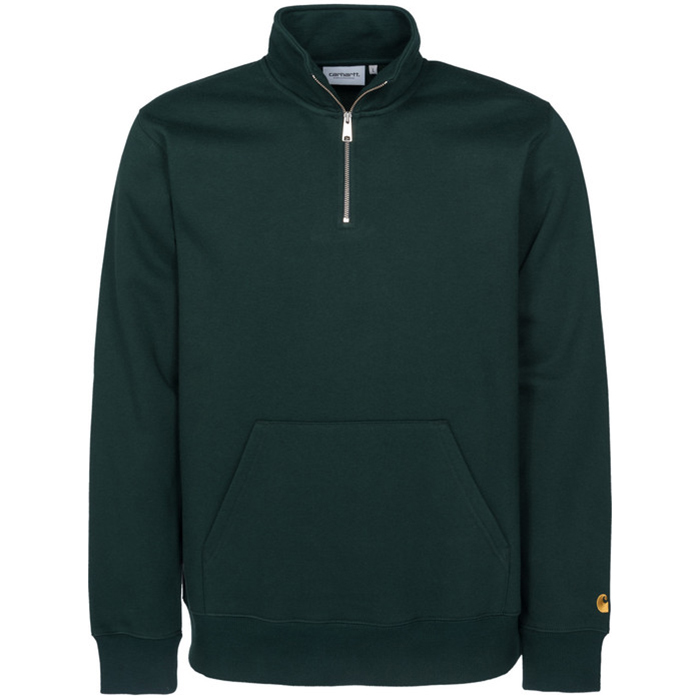 Carhartt Chase Neck Zip Sweater Parsley/Gold