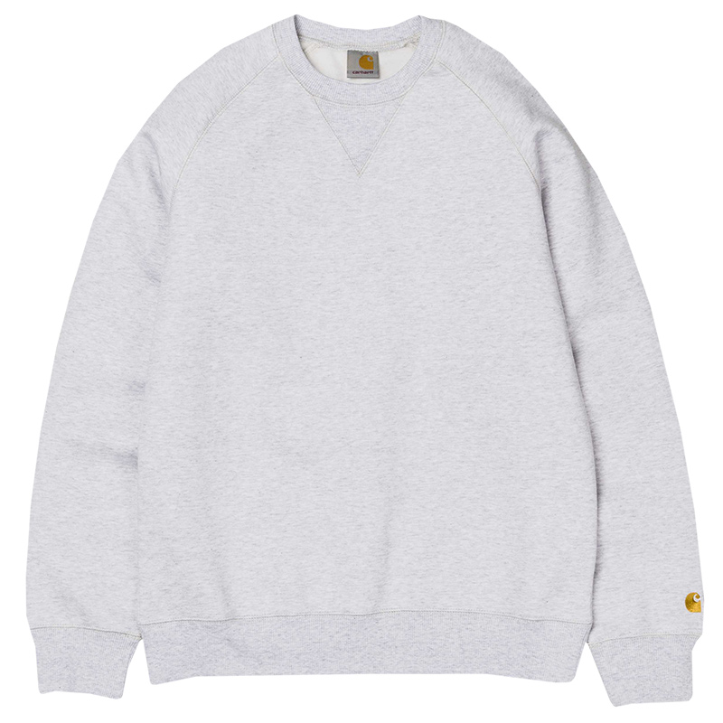 Carhartt Chase Sweat Ash Heather/Gold