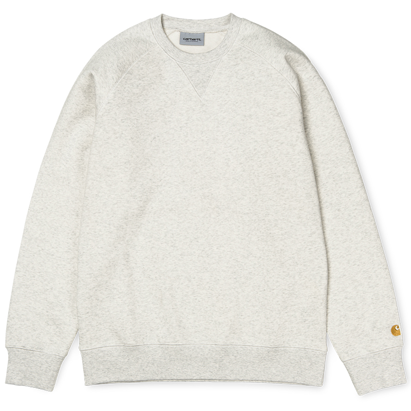 Carhartt Chase Sweater Ash Heather/Gold