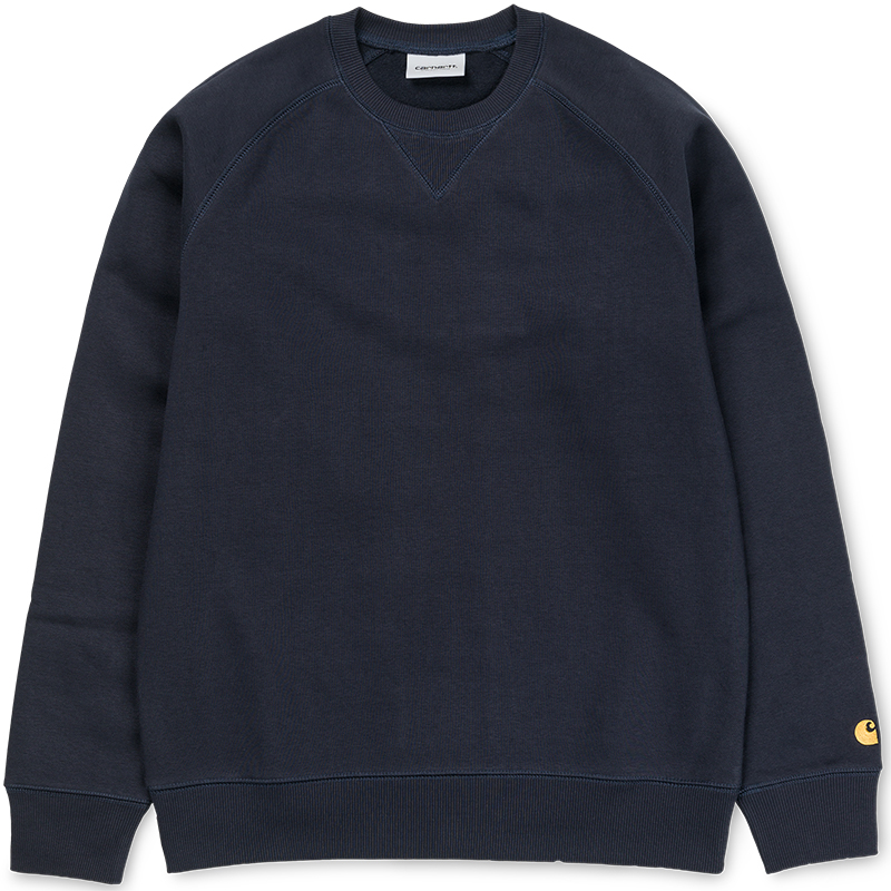 Carhartt Chase Sweater Dark Navy/Gold