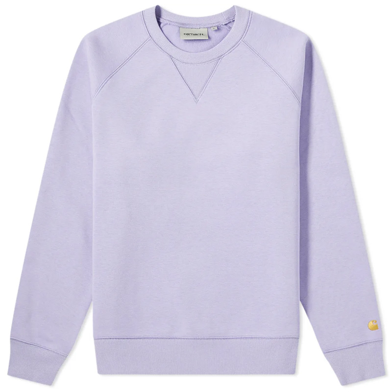 Carhartt Chase Sweater Soft Lavender/Gold