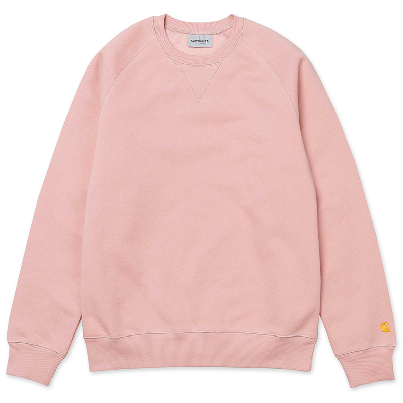 Carhartt Chase Crewneck Sweater Soft Rose/Gold