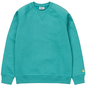 Carhartt Chase Sweater Soft Teal/Gold