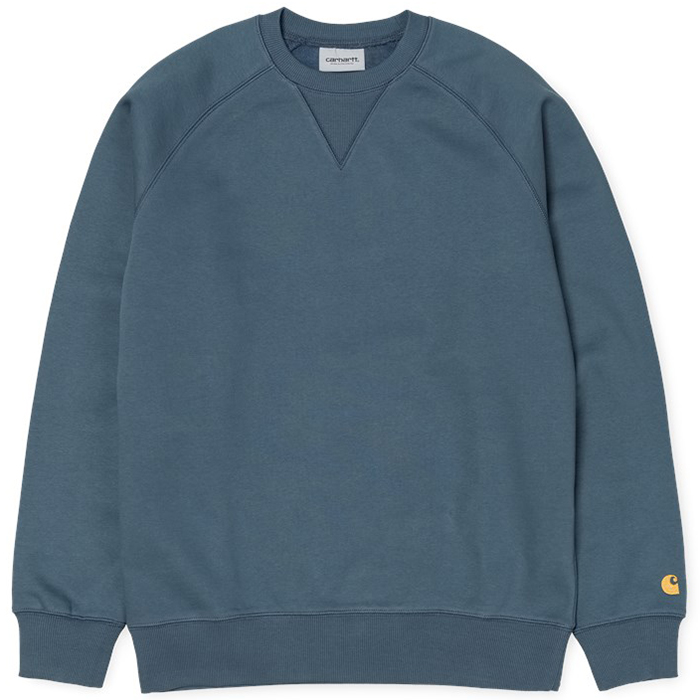 Carhartt Chase Sweater Stone Blue/Gold